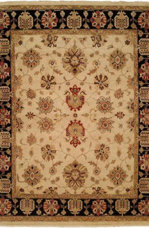 Oushak 4X6 Beige Wool Area Rug