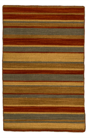 Flatweave Contemporary 2X3 Green Red Wool Area Rug