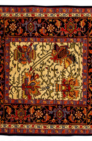 James Opie 4 Foot Square Ivory Wool Area Rug