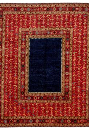 James Opie 8X10 Blue Red Wool Area Rug
