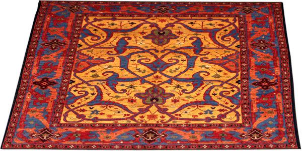 James Opie 10X14 Gold Orange Wool Area Rug