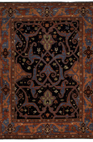 James Opie 9X12 Orange Wool Area Rug