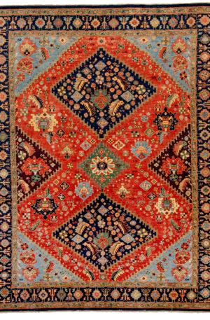8x10 Aqcha Multicolored Area Rug