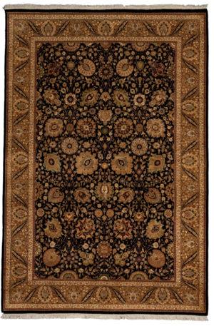 6X9 Brown Wool Area Rug