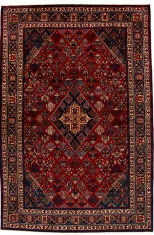 Persian Meymeh 9X12 Blue Red Wool Area Rug