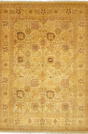 Pakistan Amritsar 10X14 Ivory Wool Area Rug
