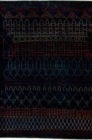 Afghan 4X6 Blue Wool Area Rug