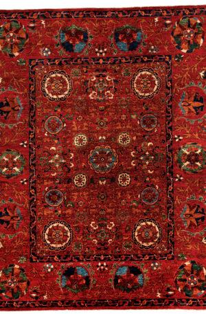 Afghan Tribal 8X10 Red Red Wool Area Rug