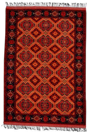 Afghan Turkmen Ersari 5X8 Red Red Wool Area Rug