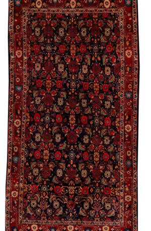 Persian Hamadan 4X6 Blue Red Wool Area Rug