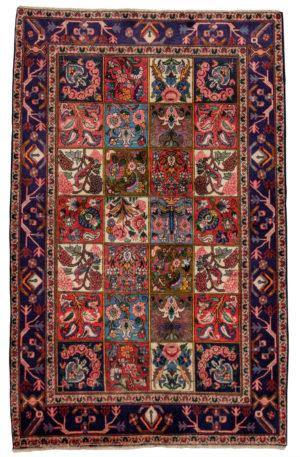 Persian Bakhtiari 4X6 Multi Blue Wool Area Rug