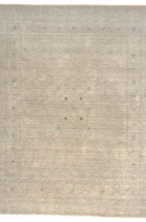 Hand Loomed 9X12 Grey Grey Wool Area Rug