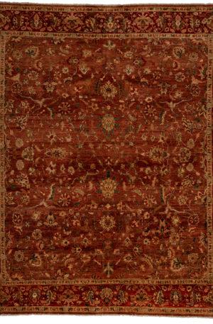 Afghan 9X12 Brown Red Wool Area Rug