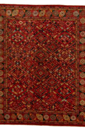 Afghan 8X10 Red Multi Wool Area Rug