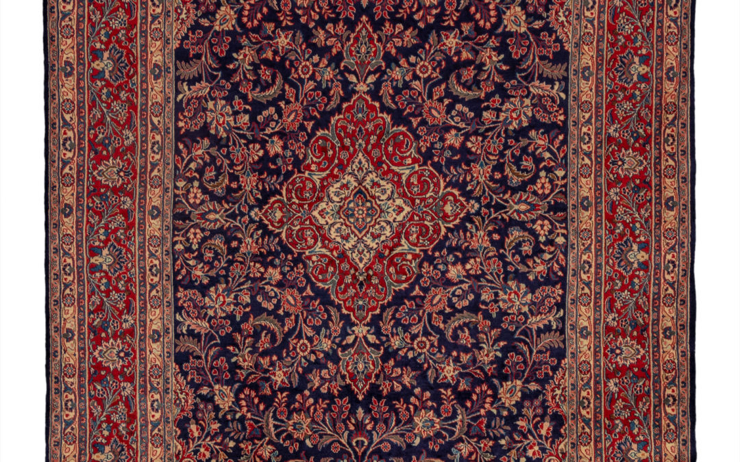 Persian Hamadan 6X9 Blue Red Wool Area Rug