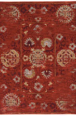 Arizona Collection 5X8 Red Area Rug