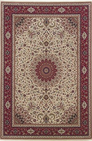 Ari Collection 4X6 Ivory Red Traditional Design Area Rug