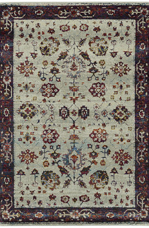 Catalan Collection 5X8 Multi Colored Transitional Design Area Rug