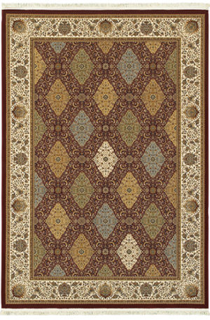 Classics Collection 5X8 Red Traditional Area Rug