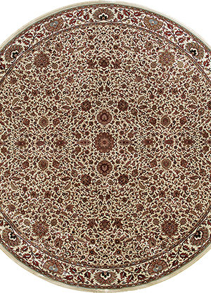 Ari Collection 5X8 Ivory Traditional Area Rug