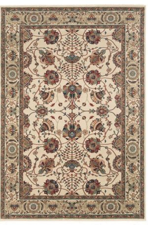 Ari Collection 4X6 Green Traditional Area Rug
