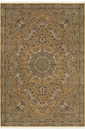 Classics Collection 8X10 Gold Traditional Area Rug