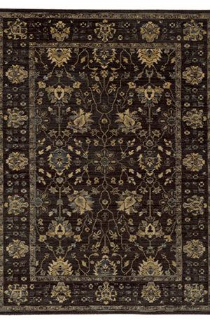 Vintage Collection 4X6 Brown Brown Wool Area Rug