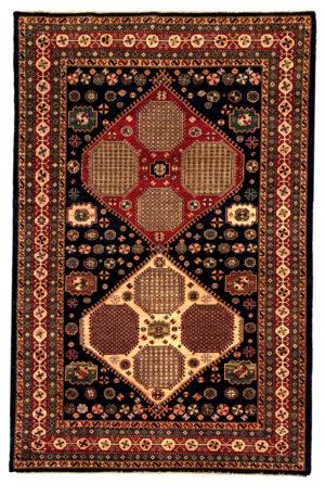 Afghan 6X9 Blue Wool Area Rug
