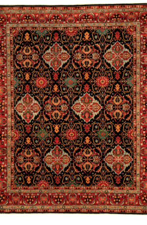 Afghan Atom Design 8X10 Blue Wool Area Rug