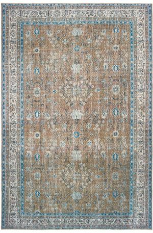 Wisdom Collection 5X8 Gold Transitional Area Rug