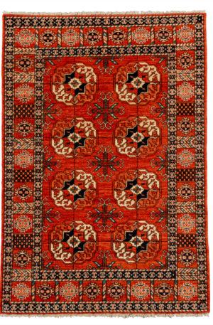 Afghan Hazara 4X6 Red Red Wool Area Rug