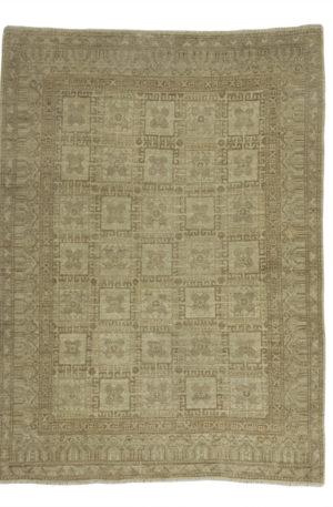 Afghan 4X6 Ivory Wool Area Rug