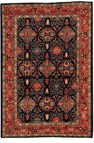 Afghan Nooristan 6X9 Blue Red Wool Area Rug
