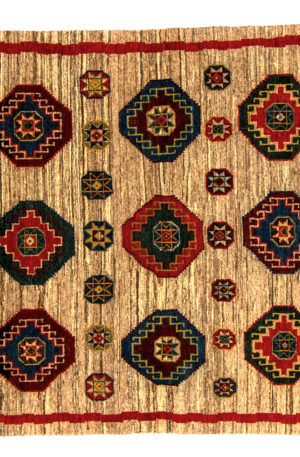 India Zamin 4X6 Red Wool Area Rug
