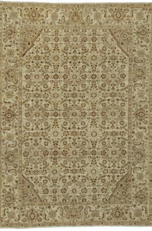 Afghan 5X8 Beige Wool Area Rug