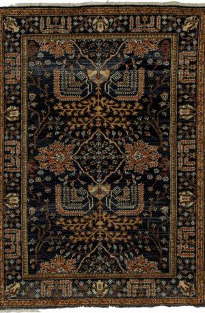Afghan Aryana 4X6 Blue Wool Area Rug