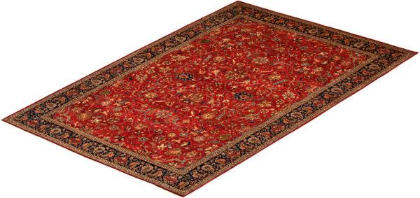 Afghan 10X14 Red Blue Wool Area Rug
