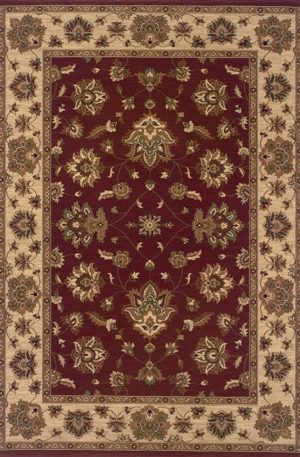 Ari Collection 5x8 Red/Beige Traditional Area rug