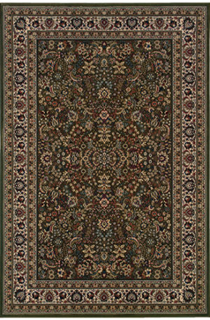 Ari Collection 5x8 Green Traditional Area Rug