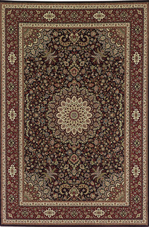Ari Collection 5x8 Brown/Red Traditional Area Rug