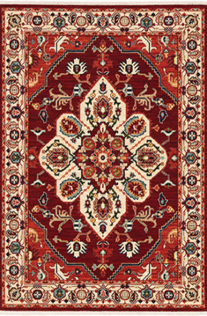 Kemereh Collection 5x8 Red Traditional Area Rug