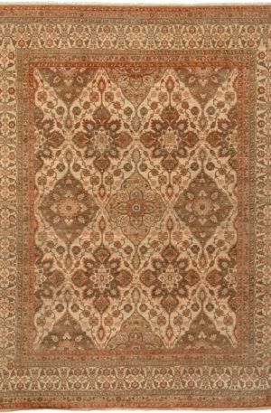 Afghan Nooristan 8X10 Ivory Wool Area Rug