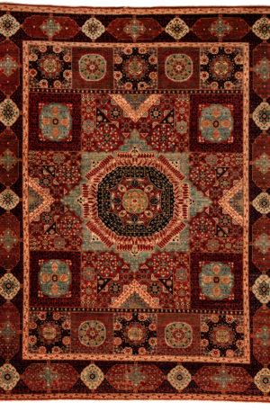 Afghan Nooristan 9X12 Red Wool Area Rug