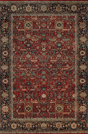 Classics Collection 6x9 Rust Traditional Area Rug