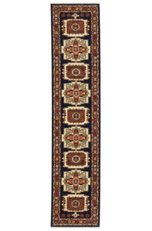 Kemereh Collection Runner Navy Tribal Area Rug