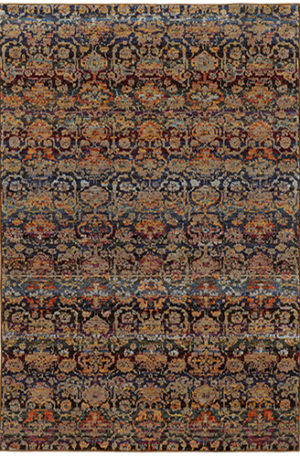 Catalan Collection 5X7 Multi Synthetic Area Rug