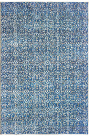 Wisdom Collection 4X6 Blue Synthetic Area Rug