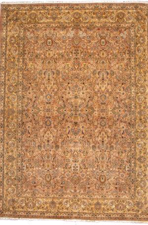 Pakistan Traditional 9X12 Beige Wool Area Rug