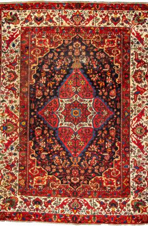 Iran Bakhtiari 9x12 Red Wool Area Rug