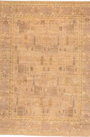 Afghan Aryana 9X12 Grey Wool Area Rug